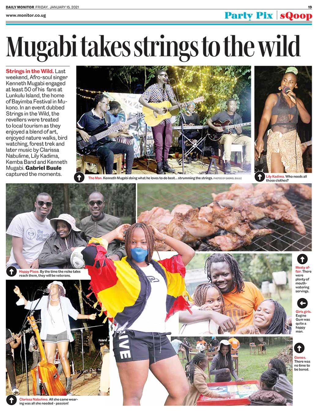 Mugabi takes strings to the wild